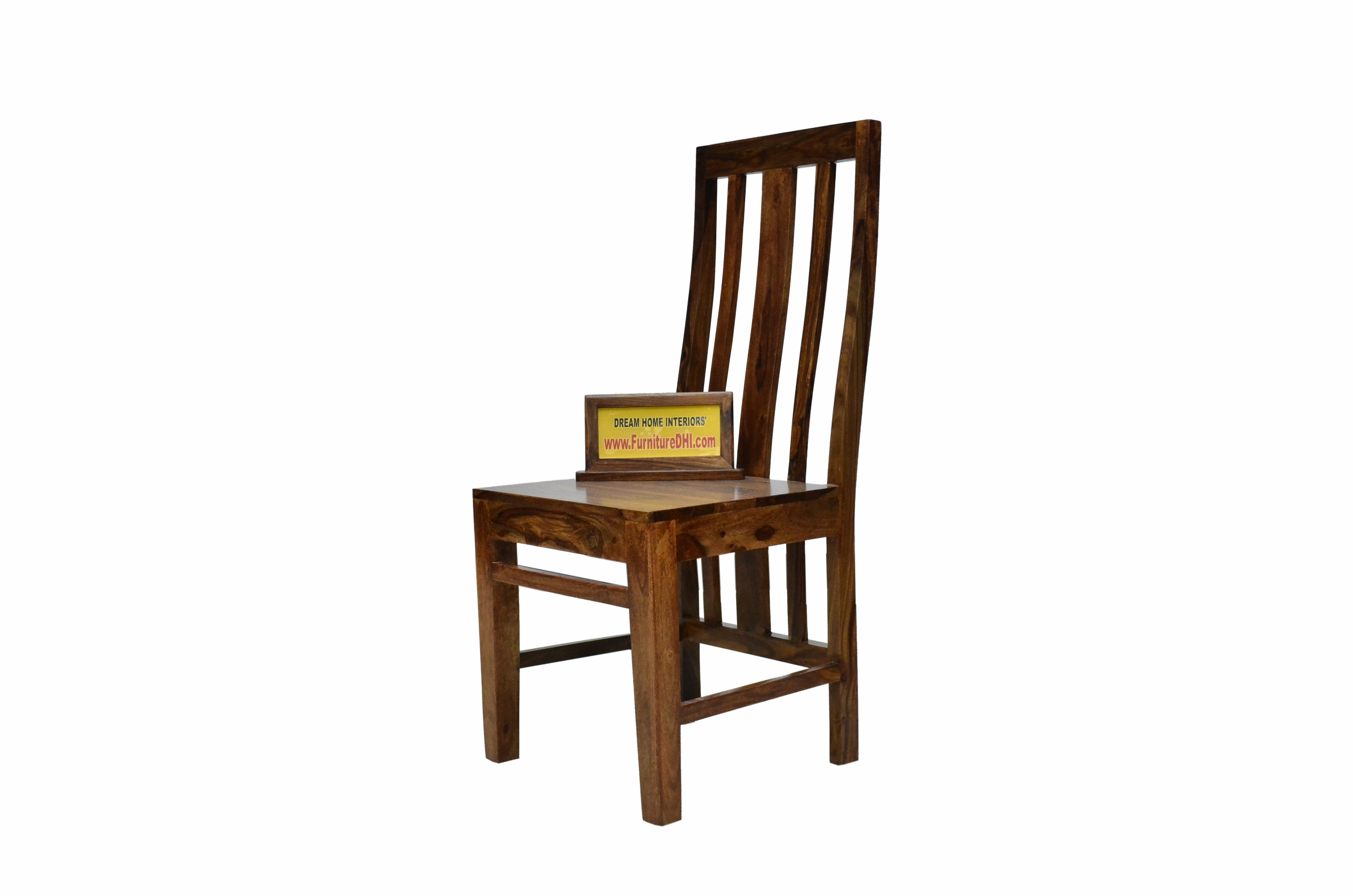 Solid Wood Dining Chair With High Back Rest